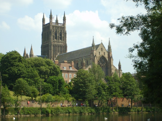cathedral viewed from across river